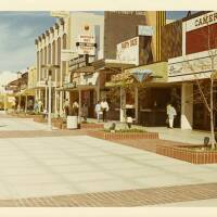 Third Street in 1970, when it was known as the Santa Monica Mall. Courtesy of the Santa Monica Public Library Image Archives.