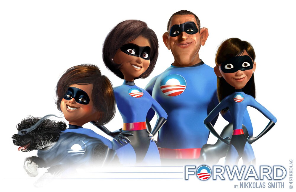 """Nikkolas Smith re-imagines the Obama family as characters from """"The Incredibles."""""""