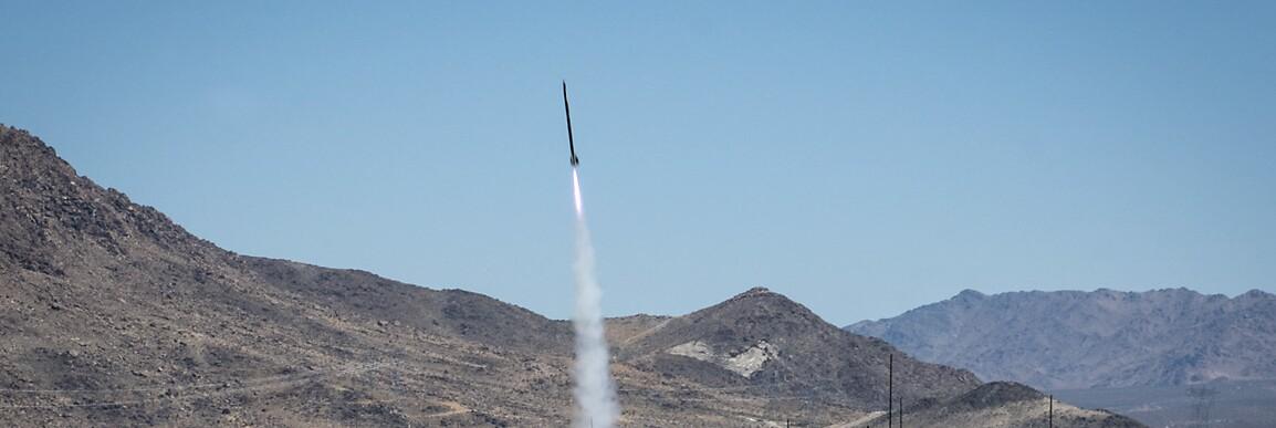 Rocket launch at ROCstock, Lucerne Valley, CA (2015). | Kim Stringfellow