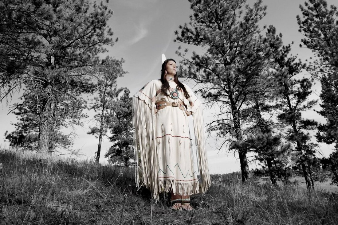 Desi Rodriguez Lone Bear, Northern Cheyenne, Montana. Photographed by Matika Wilbur for Project 562.