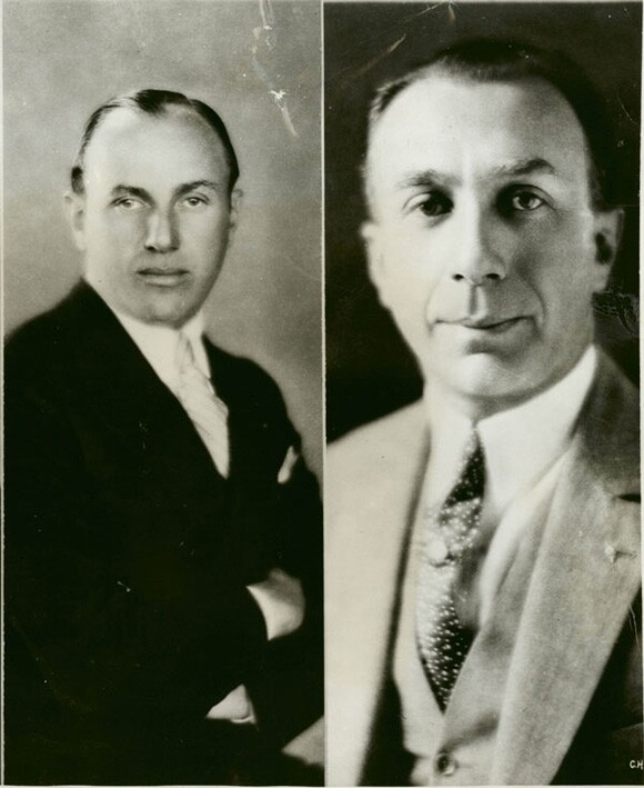 Jack and Harry Warner, 1928 | Courtesy of the Los Angeles Examiner Prints Collection, USC Libraries Special Collections.