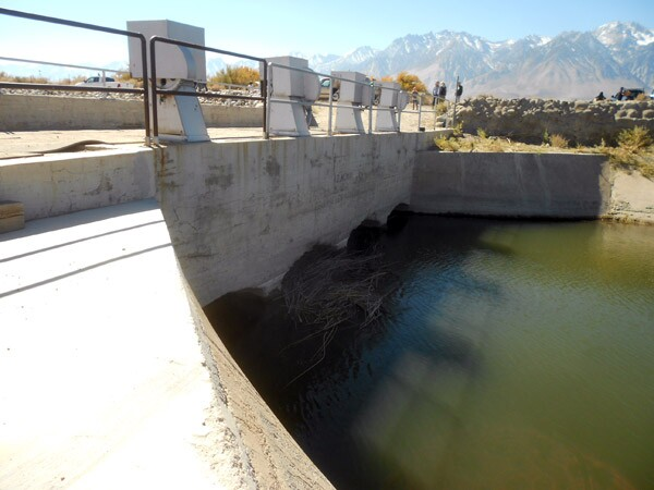 The Los Angeles Aqueduct intake, outside of Aberdeen.