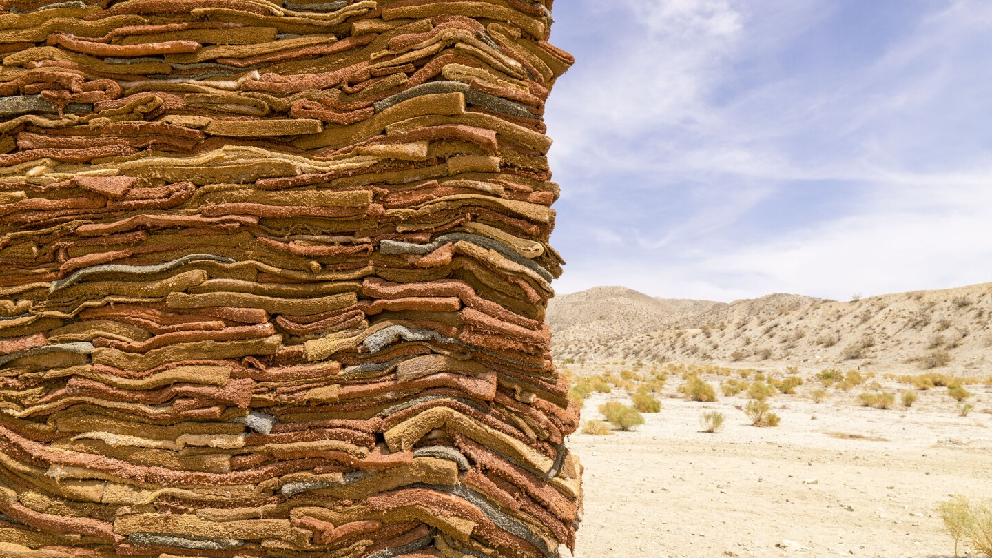 """A close-up of Alghamdi's installation, """"What Lies Behind the Walls."""""""