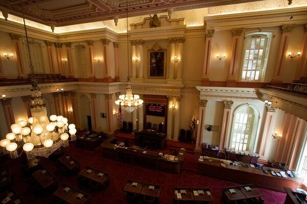 The California State Senate chambers