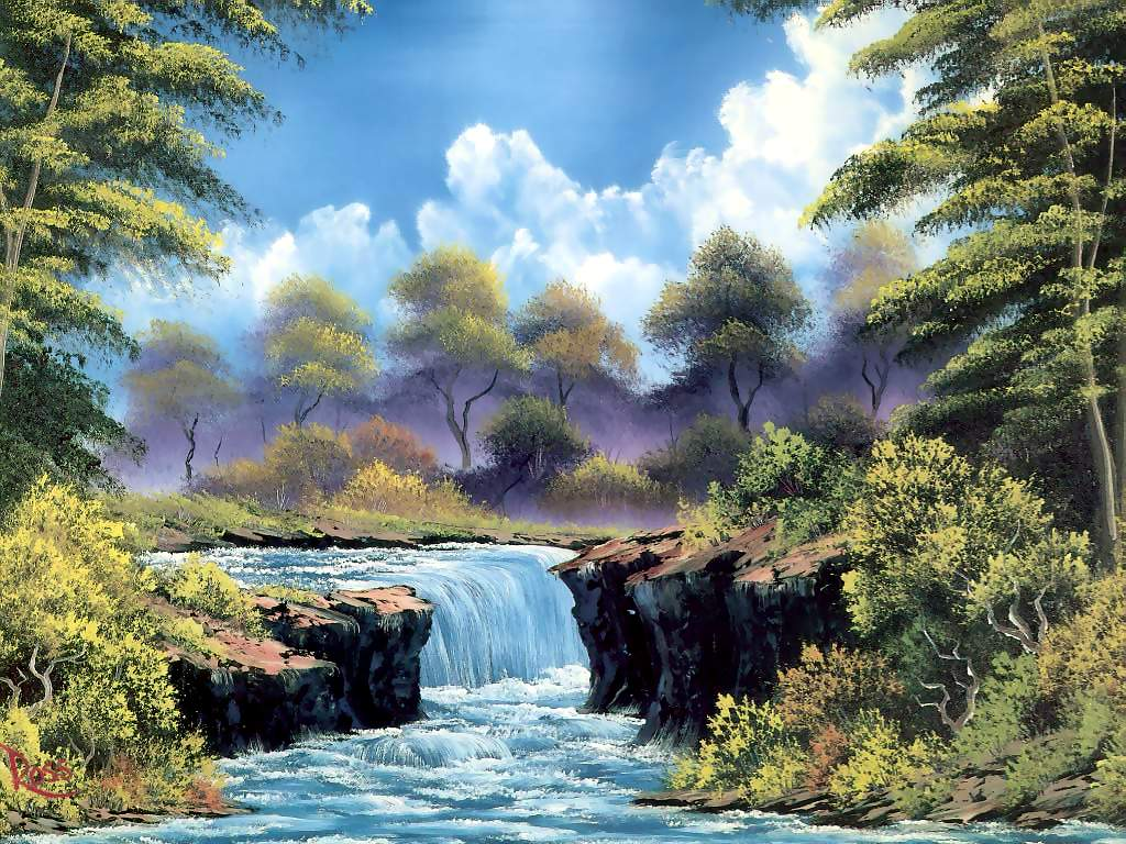 Bob Ross: Untitled landscape