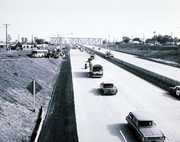 Opening of Interstate 10 in Santa Monica on January 6, 1966. B47. Courtesy of the Santa Monica Public Library.
