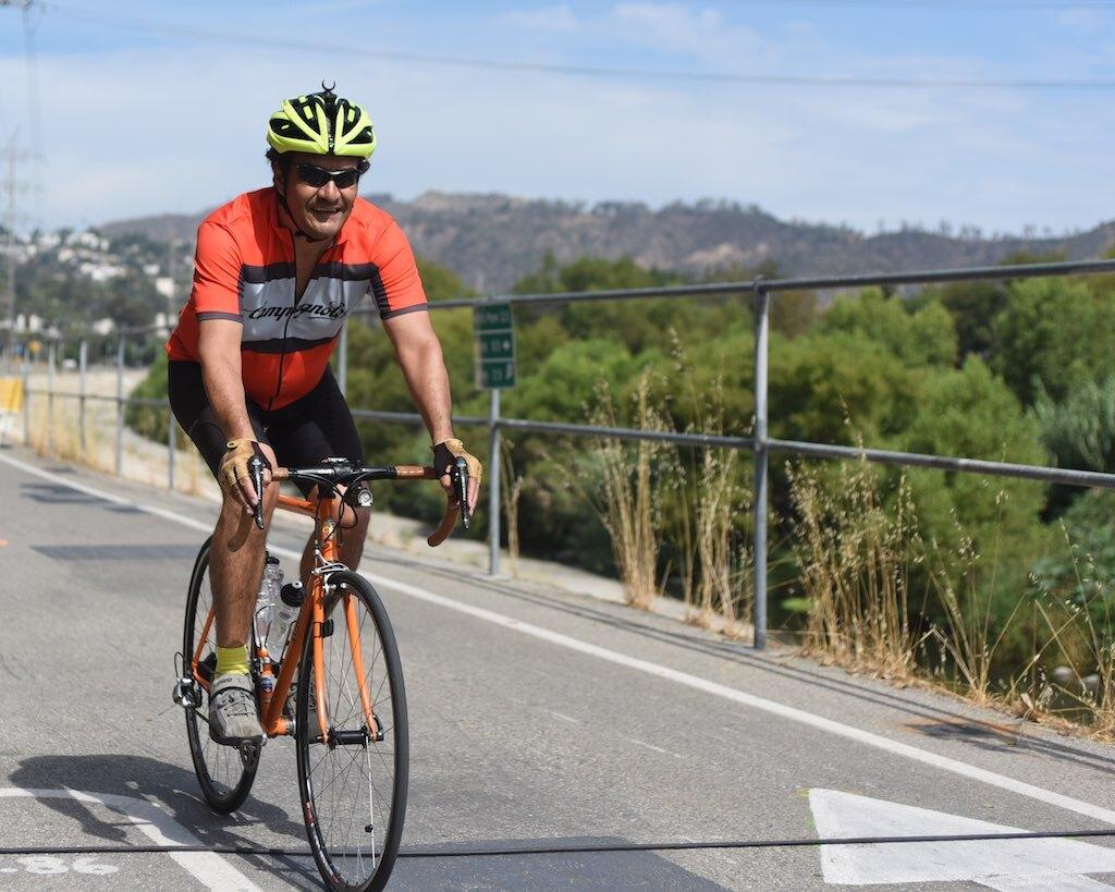Robert García biking   García family / The City Project