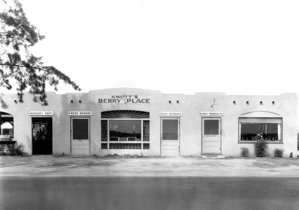 The Knotts' berry shop in the 1930s. Until 1947, the roadside attraction was named Knott's Berry Place. Courtesy of the Orange County Archives.