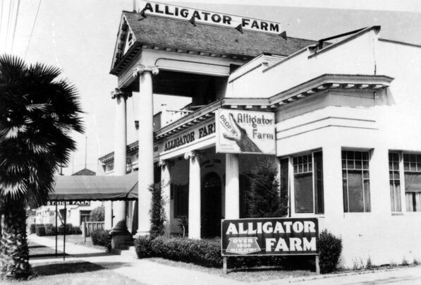 Exterior of the California Alligator Farm building. Courtesy of the Los Angeles Public Library Photograph Collection.