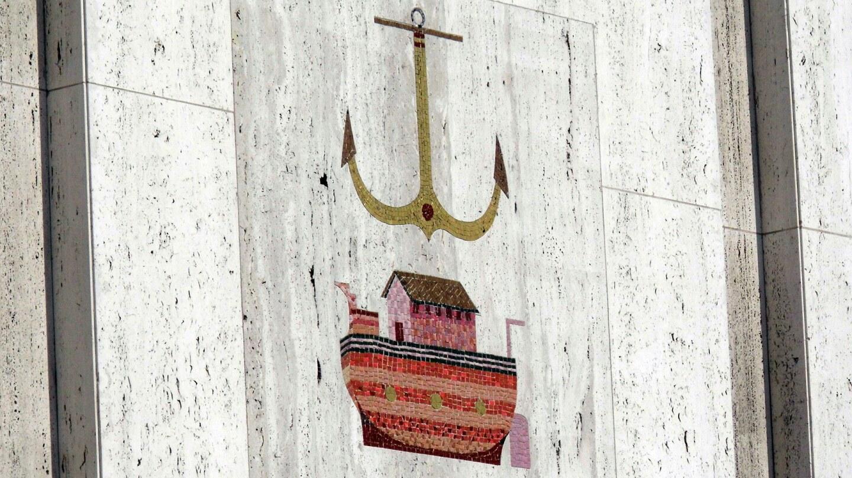 Detail of a mosaic mural at the Scottish Rite Temple. | Sandi Hemmerlein