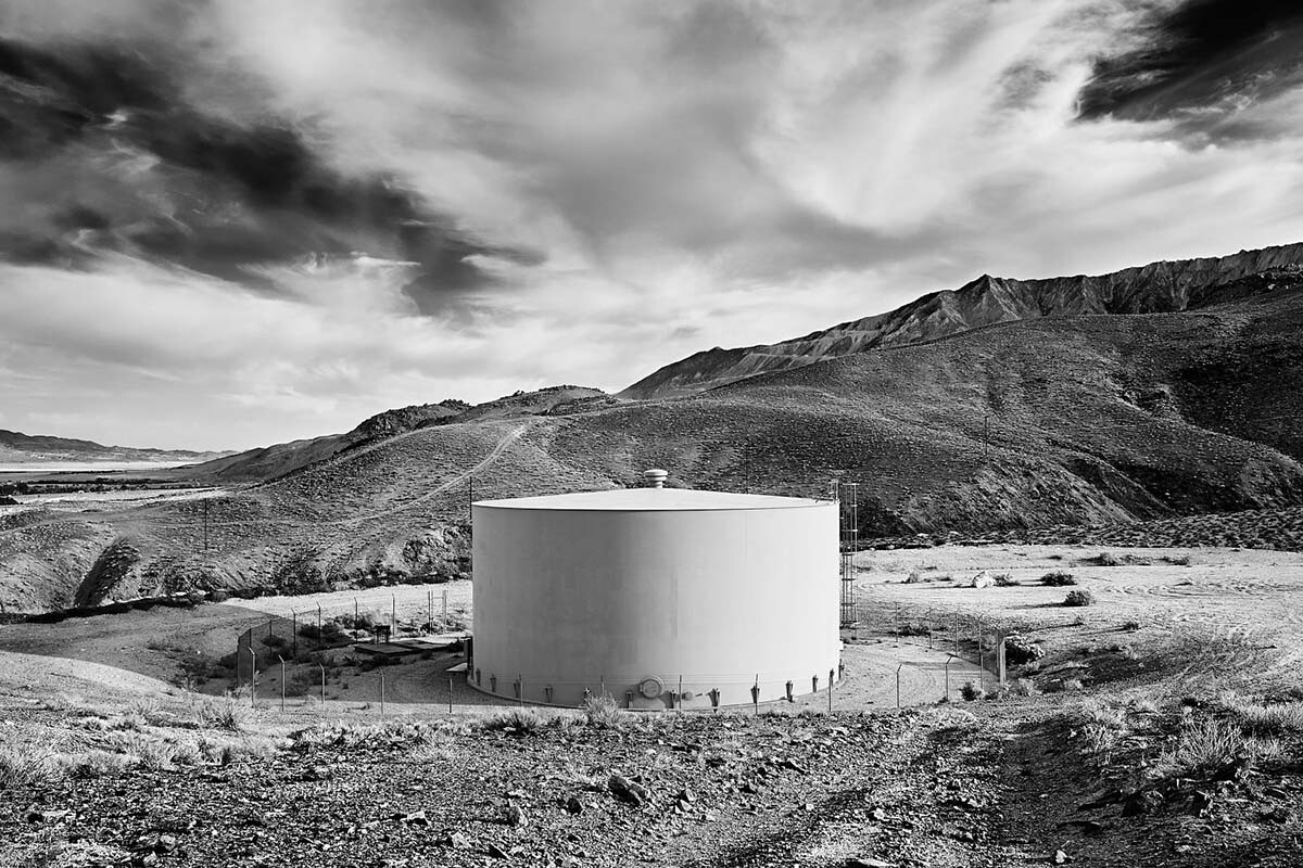 Water Tank - Infrared Exposure - Lone Pine, CA - 2013  | Osceola Refetoff