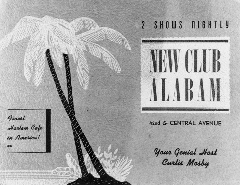 Club Alabam nightclub advertisement