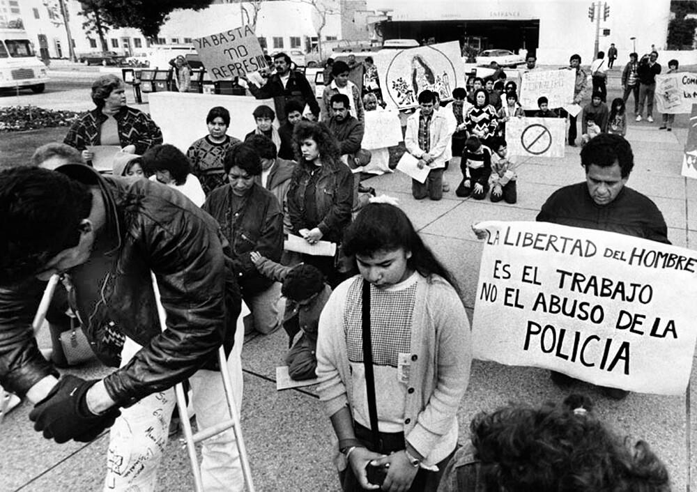 Protest at Parker Center.