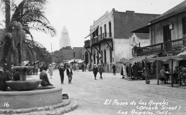 Olvera Street after restoration | Security Pacific National Bank Collection, Los Angeles Public Library