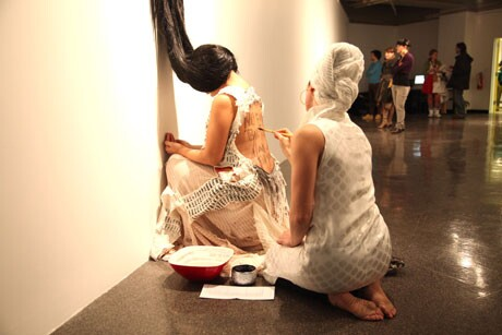 <strong>ANIDA YOEU ALI</strong>, <em>Palimpsest for Generation 1.5</em>, 2010, Performance, Video Courtesy of the artist