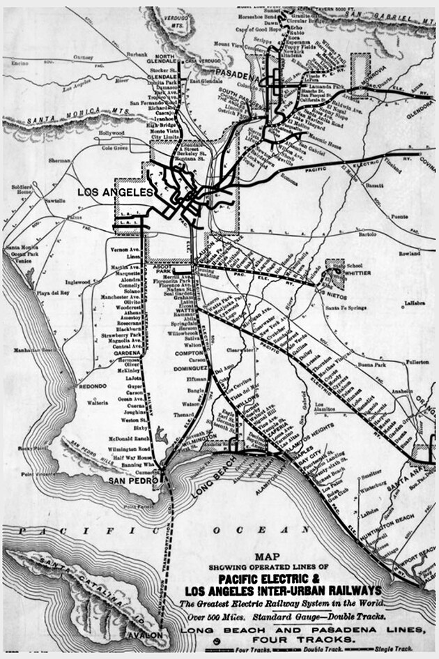 Pacific Electric and Los Angeles inter-urban railways