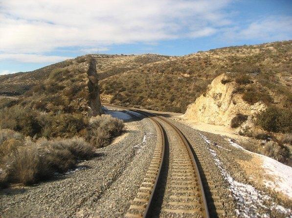 Track along Metrolink's Antelope Valley line