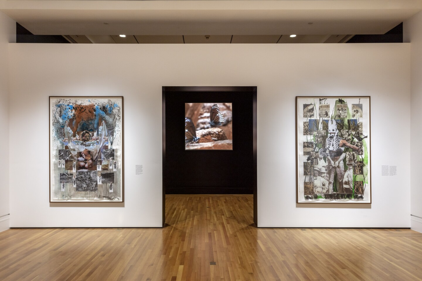 "An installation view of Kandis Williams' work at ""Made in L.A. 2020: a version"" at The Huntington Library, Art Museum, and Botanical Gardens, San Marino. 