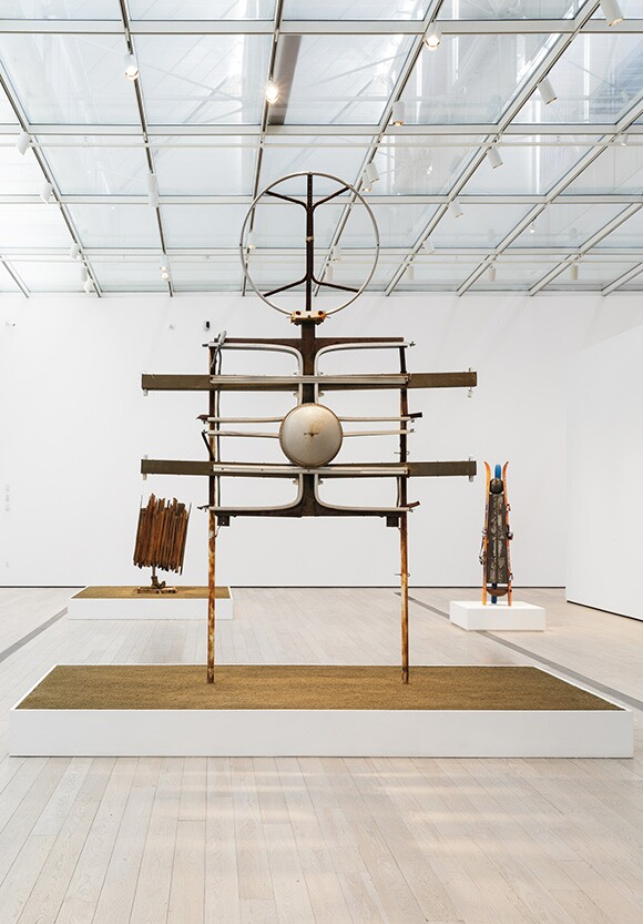 Installation photo of the exhibition, Noah Purifoy: Junk Data at the Los Angeles County Museum of Art (June 07, 2015 - September 27, 2015). © Noah Purifoy Foundation. Photo © Museum Associates/LACMA.