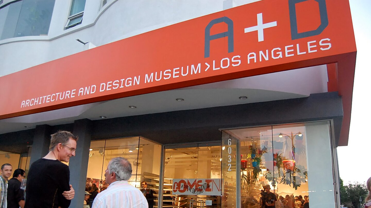 Street view of the A+D Museum in 2010.   Carren Jao