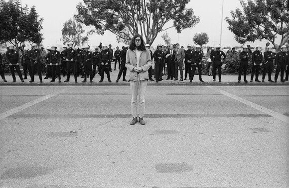 Mike Mandel, Myself: Timed Exposure (CSUN War Protest), 1971 / Inkjet print, 8 in. x 10 in. | Courtesy of CSUN.