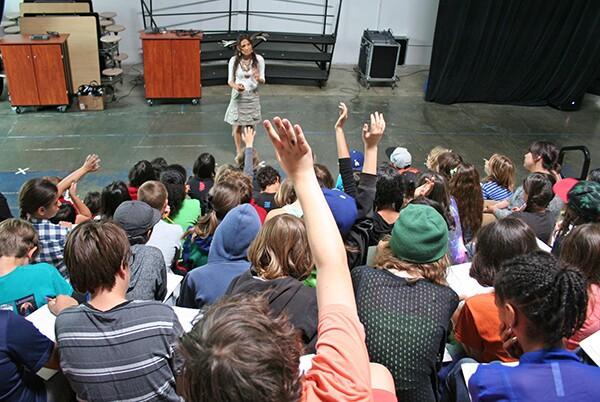 Tonantzin Carmelo talk to students at LFCSA