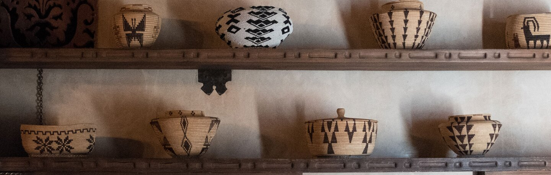 Timbisha Shoshone baskets at Scotty's Castle