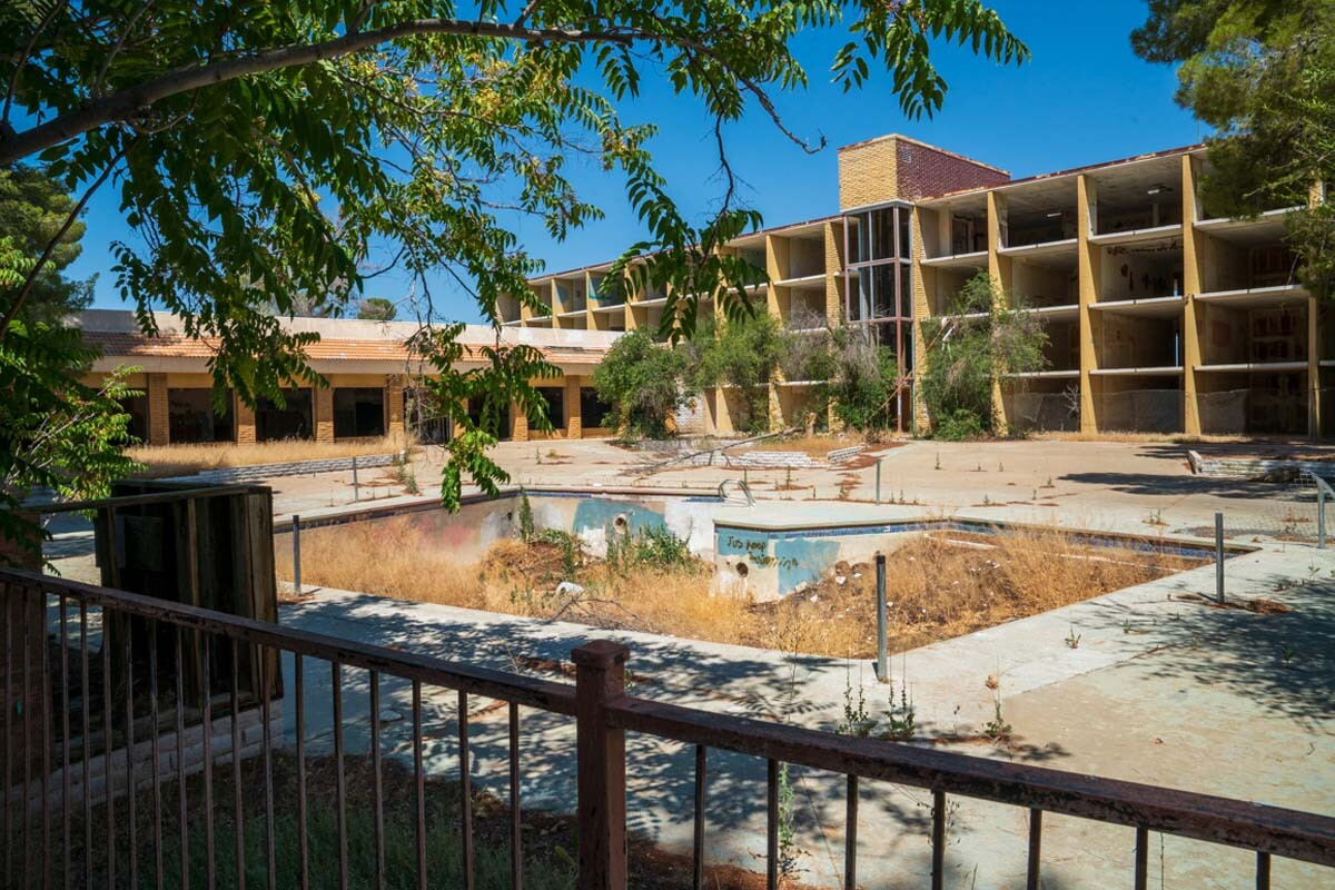 "The gutted Holiday Inn at California City's lake shore has been slated for a ""80 units for custom affordable smart homes with 2MW of energy storage and microgrid data center,"" states the CalCitypower.com website. 