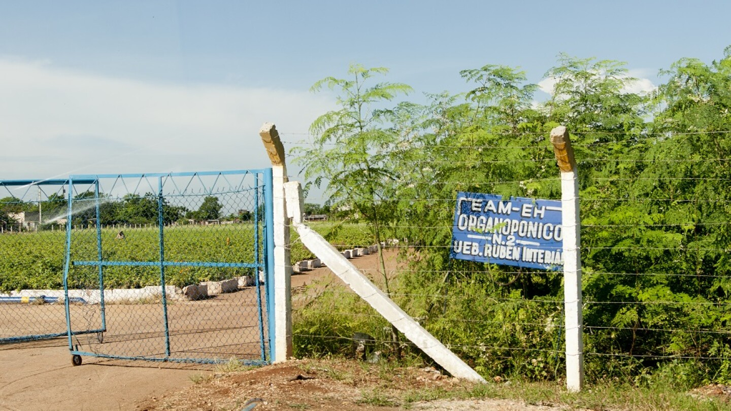 Entrance to the Organic Farm in Havana
