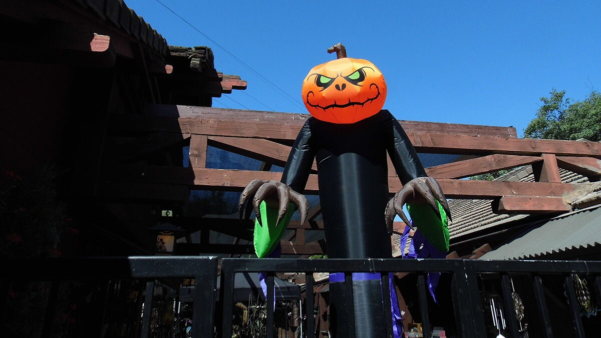 Halloween decor abounds at Descanso Gardens. | Sandi Hemmerlein