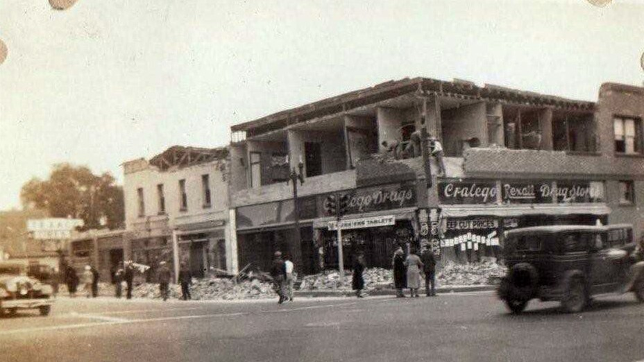Florence Avenue, Long Beach after 1933 quake