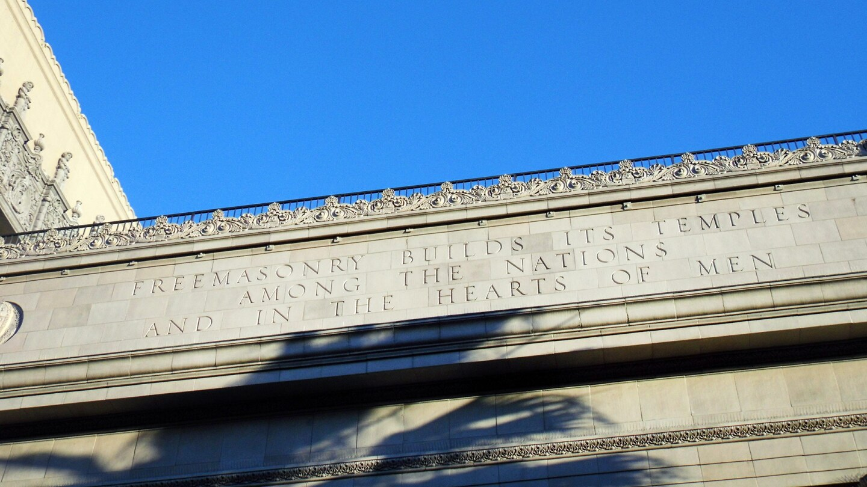 The Hollywood Masonic Temple has Masonic inscriptions. | Sandi Hemmerlein