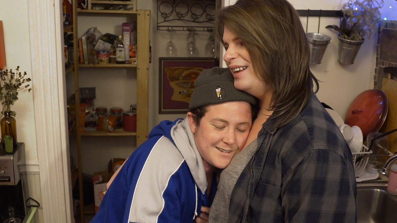 Yaya hugs Jack during a visit to Boston.