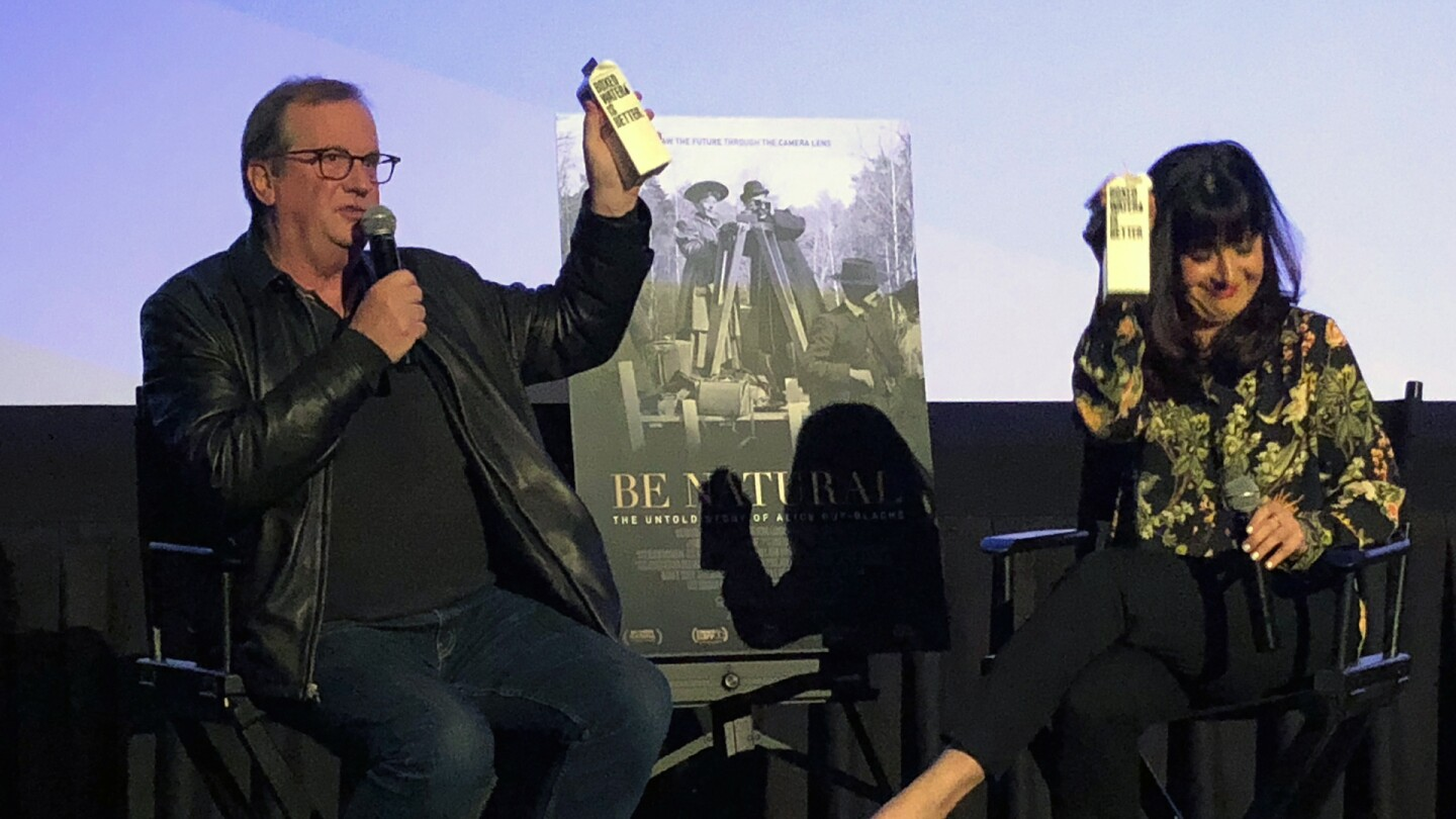 """Cinema Series host Pete Hammond and Writer/Director/Producer Pamela M. Green participate in a Q&A discussion after a screening of """"Be Natural: The Untold Story of Alice Guy-Blaché"""""""