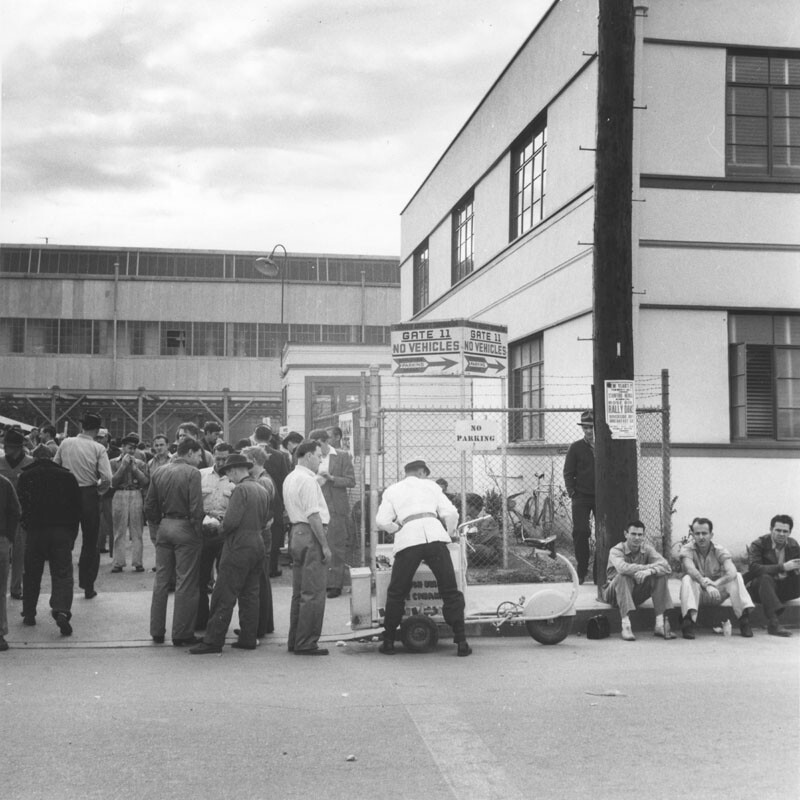 Burbank Lockheed Plant, ca. 1940 | Photo: Ansel Adams, courtesy of the Los Angeles Public Library