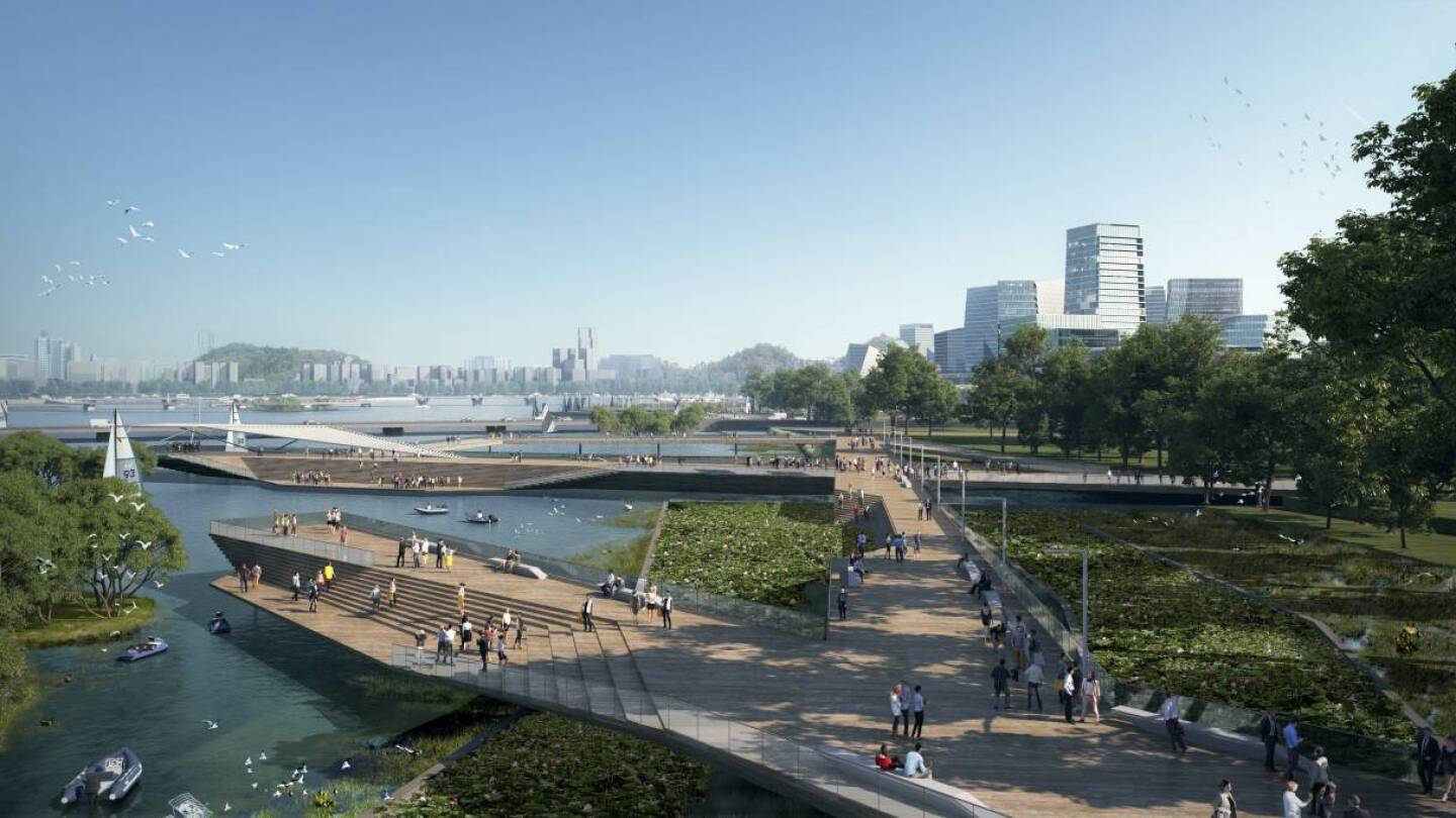 A rendering of Net City, technology company Tencent's planned new smart city in Shenzhen, China. | Handout pic from NBBJ via Thomson Reuters Foundation