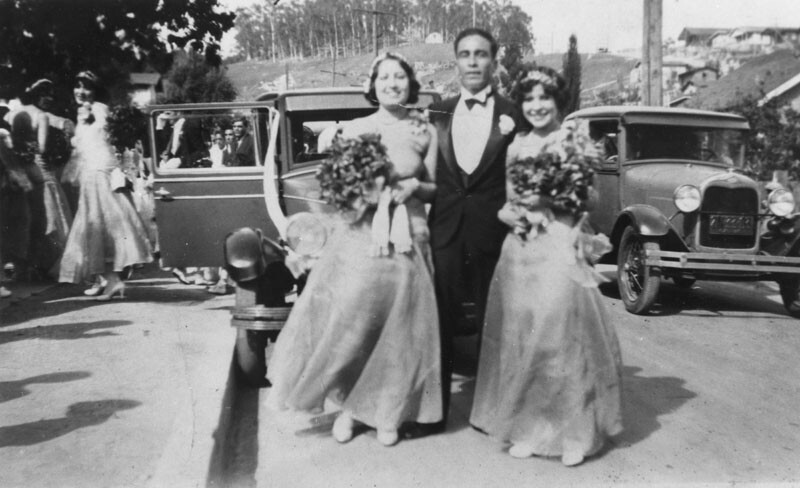 The library's Shades of L.A. Collection includes this 1929 photo of a wedding celebration in Chavez Ravine.