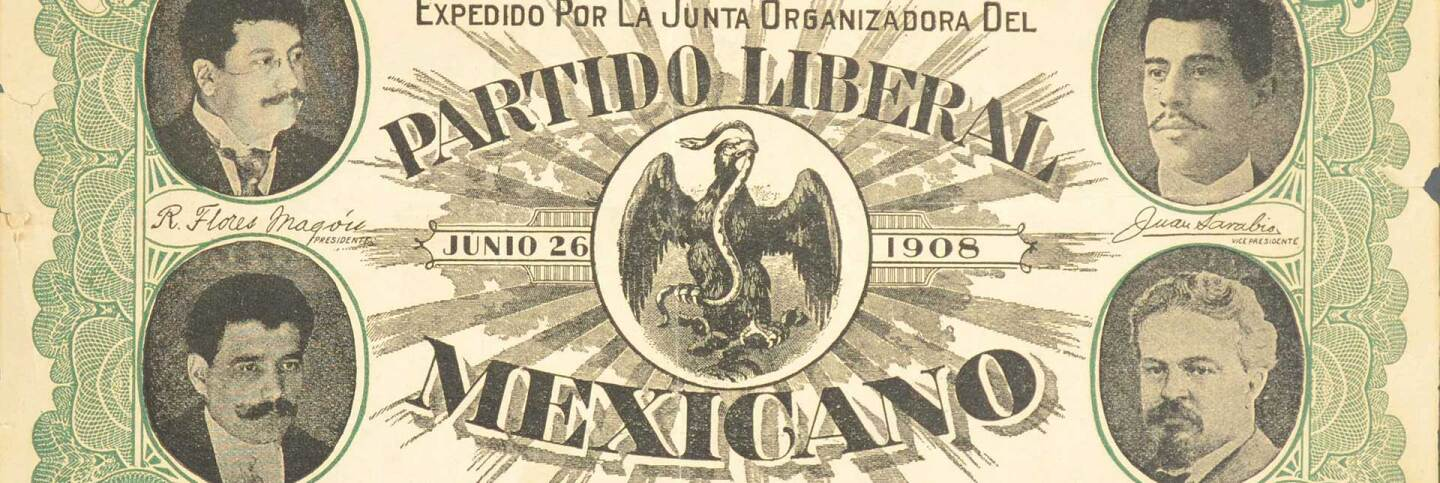 Legal Defense Bond issued by the Organizing junta of the Partido Liberal Mexicano, 1908. Courtesy of El Archivo Electrónico Ricardo Flores Magón. Regeneracion header