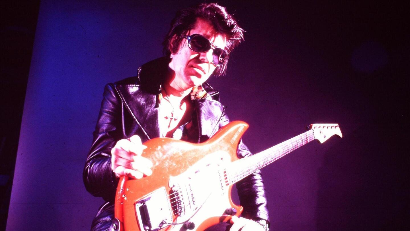 "A still from ""RUMBLE: The Indians Who Rocked The World."""