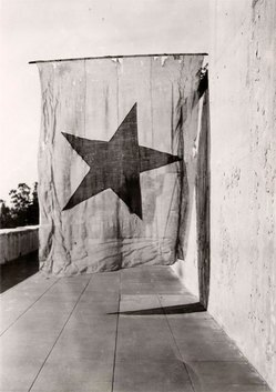 The 1836 Alvarado Flag. Photo by Mark r. Harrington, courtesy of the Braun Research Library Collection, Autry National Center of the American West. P.13327.