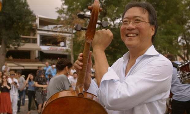 """Cellist Yo-Yo Ma in """"The Music of Strangers: Yo-Yo Ma and the Silk Road Ensemble."""" Image courtesy of Kino Lorber."""