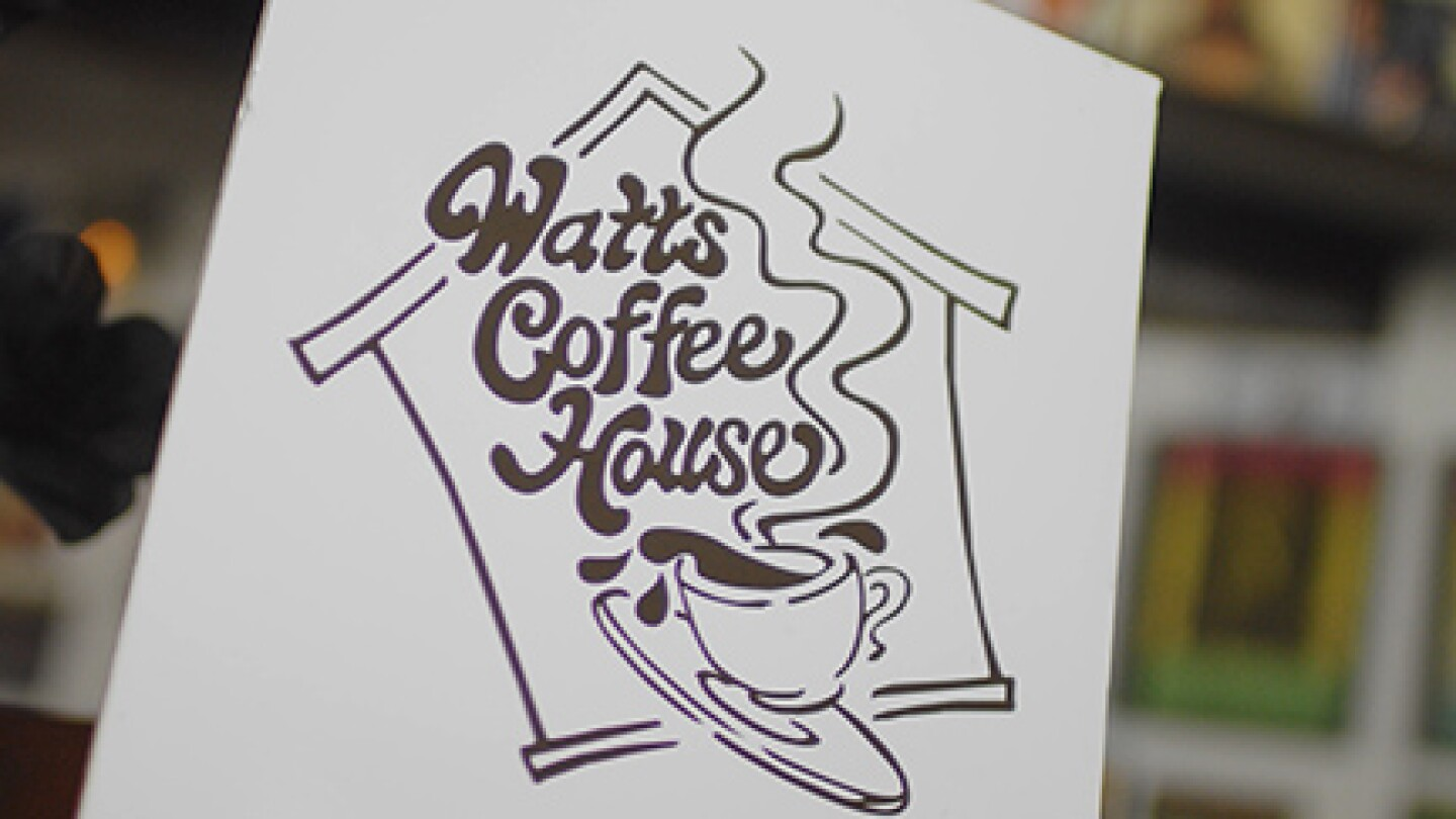 "Watts Coffee House logo | Still from ""Broken Bread"" Watts"