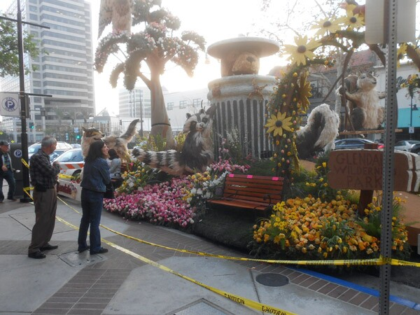 Glendale's popular Rose Parade float sits in public display on Brand Boulevard from January 2-5.