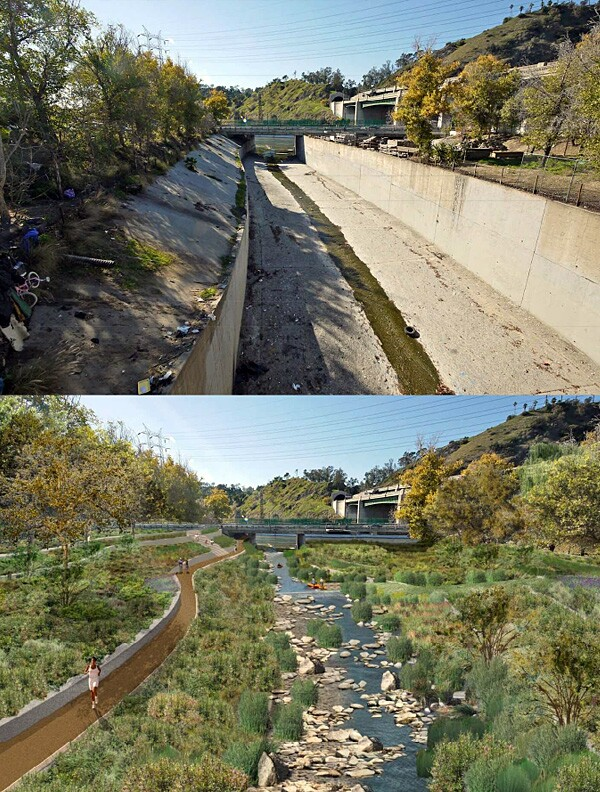 Before and After: Arroyo Seco Confluence in Cypress Park
