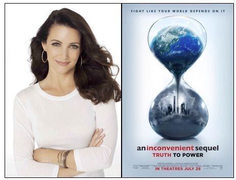 (r) Kristin Davis | Image courtesy of Russell James (l) An Inconvenient Sequel | Image courtesy of Paramount