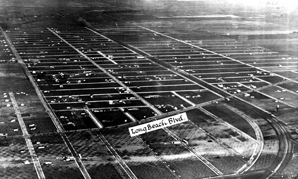 Aerial view of South Gate ca. 1920 | Photo: Courtesy of L.A. Public Library