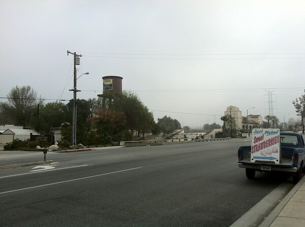 The San Dimas Equestrian Center and water tower