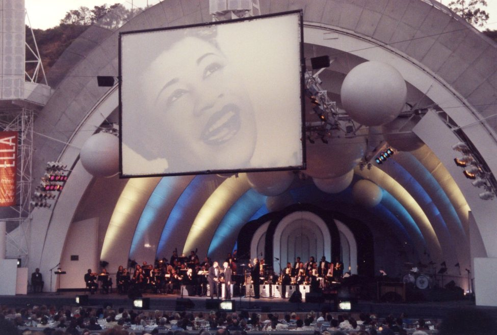 Produced for the Los Angeles Philharmonic Association by Festival Productions. This gala concert celebrating Ella Fitzgerald benefitted the Hollywood Bowl Fund.