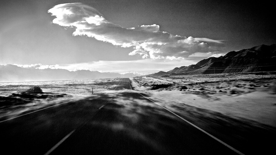 Wind Blown Sand - Infrared Exposure - Highway 136 North of Keeler, CA - 2013 | Photo: Osceola Refetoff