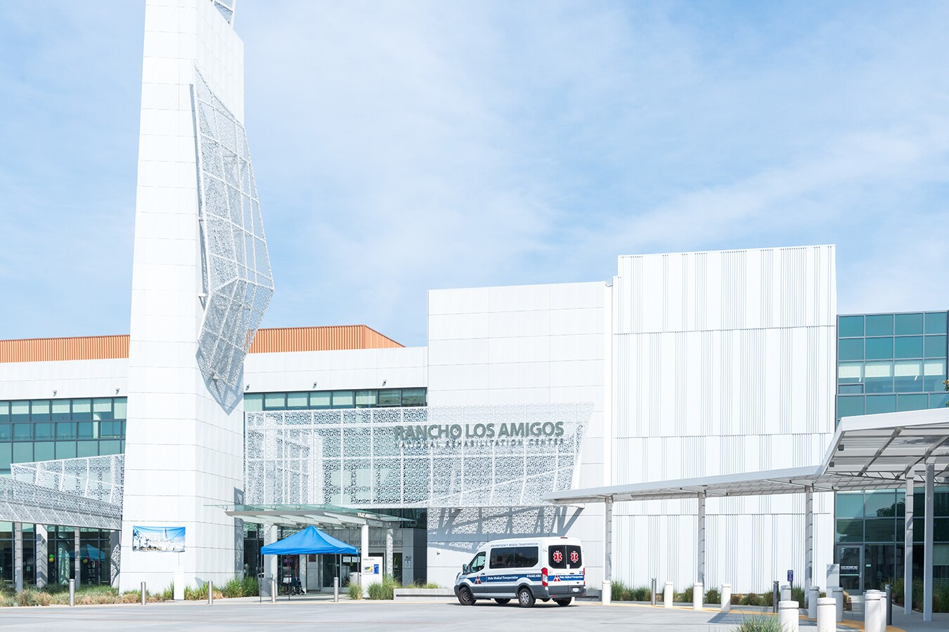 Rancho Los Amigos National Rehabilitation Center in Downey is one of L.A. County's four public hospitals and the only one dedicated to rehabilitation. The hospital serves mostly Latino, low-income patients.